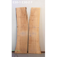 American Elm Book Match Live Edge Slabs - #E30-1 and 2