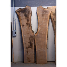 Black Walnut Book Match Live Edge Slabs - #W806-1 and 2