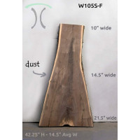 Sanded Live Edge Slab - Black Walnut - #W106-S
