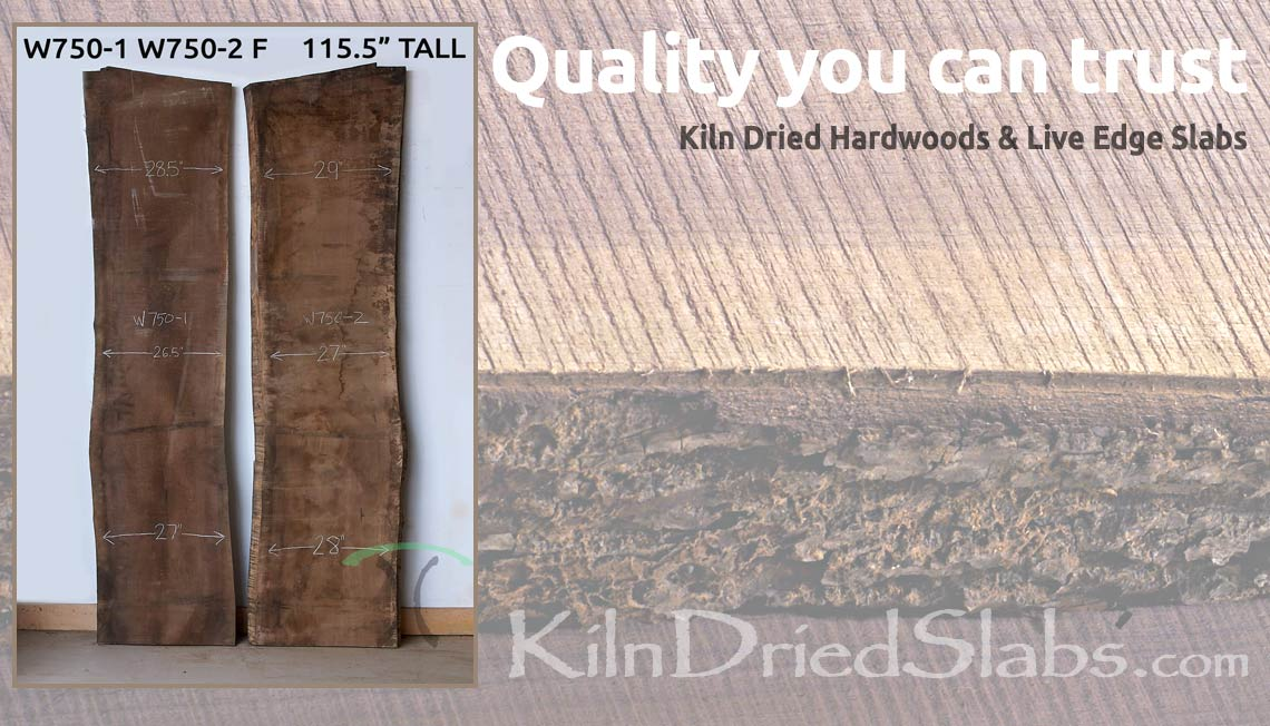 About Kiln Dried Live Edge Slabs